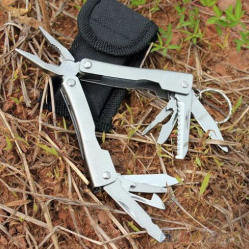 9in1 Outdoor Stainless Steel Multi Tool Plier Portable Pocket Mini Camping Kit 2KOA(China (Mainland))