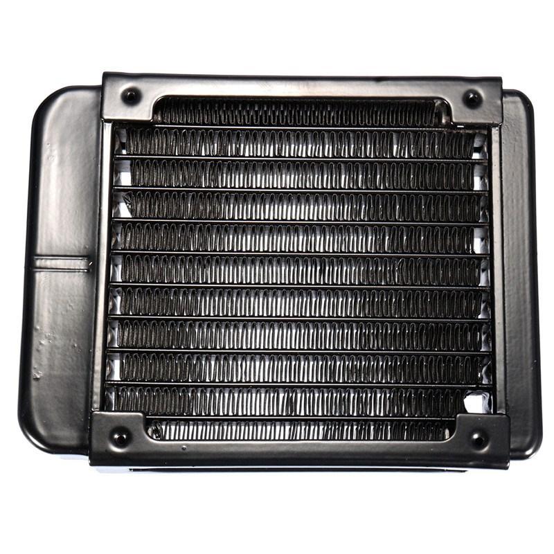 Computer Radiator Water Cooling G1/4 90mm Aluminum Heat Exchanger Cooler For CPU GPU VGA RAM Laser Cooling Cooler Heatsink(China (Mainland))