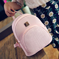 Women Leather Backpack Multifunctional Travel Pink Backpack Personalized Fashion Style 2016 Hot Sale
