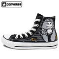 The Nightmare before Christmas Black Sneakers Men Women Converse Chuck Taylor Hand Painted Shoes Man Woman