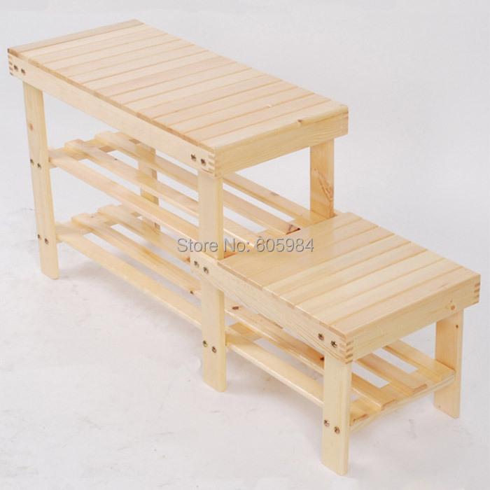 Seated Shoe Bench Storage Eco-friendly Shoe Organizer Handmade DIY Shoe Racks For Patio Furniture(China (Mainland))