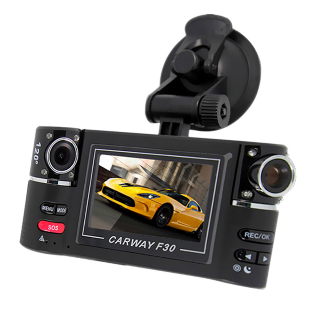 """Car Camera Dual Lens F30 2.7"""" Night Vision HD Car DVR Vehicle Driving Camcorder Video Recorder With Original Package(China (Mainland))"""