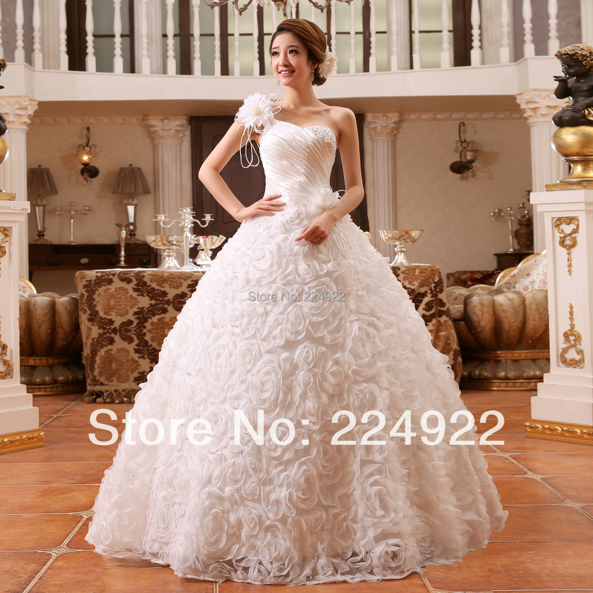 Buy 2015 fashionable romantic sexy one for Princess plus size wedding dresses