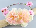 Light peach flower Artificial Floral Crown Headband for Wedding festival Decor Flowers Wreath Adult Children s