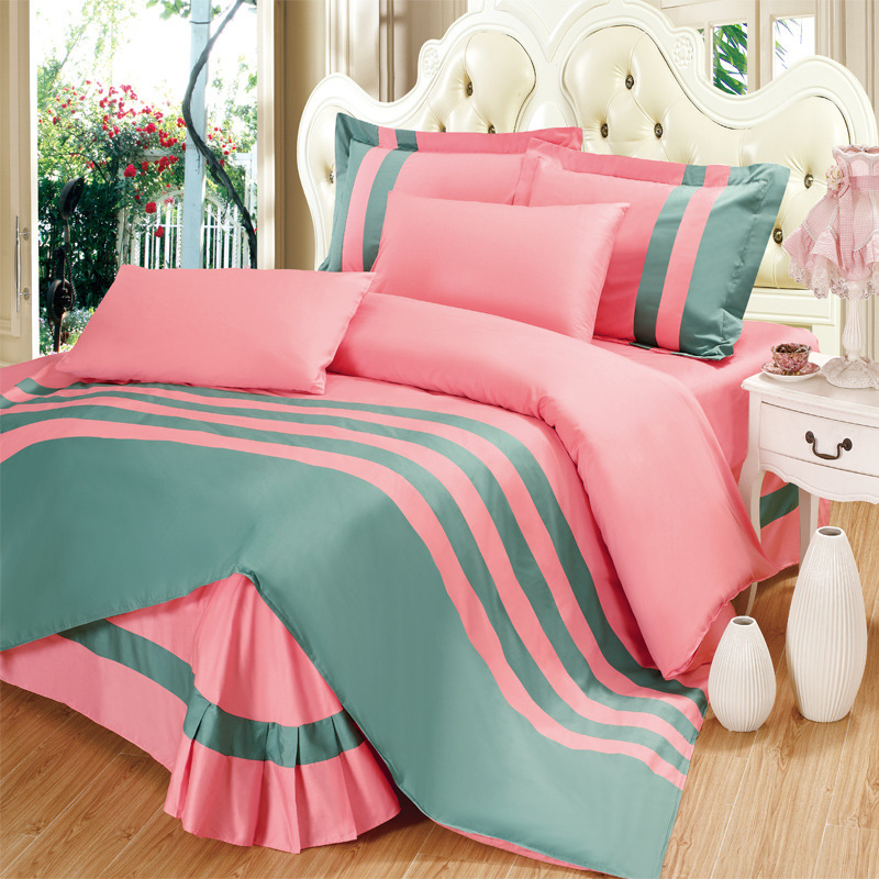 Fashion Sport Bed Covers Reactive Dyeing Twill Queen Size Comforter Sets Larry Plain Cotton Quilting Bedding Set Bed Covers(China (Mainland))