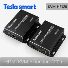 120 м микро-hdmi kvm-коммутатор ик-пульт дистанционного аудиоудлинитель над IP LAN или CAT5e / 6, ( Приемник + передатчик ), Kvm-he101