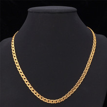 Gold Chain Necklace Men Jewelry With 18K Stamp New Trendy 18K Real Gold Plated 0 6