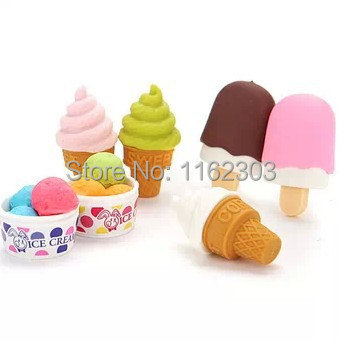 valentine's day gifts/Super lovely eraser/Salad shaved ice modelling erasers/removable rubber polishing/erasers free shipping(China (Mainland))
