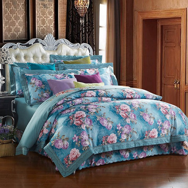 luxury reactive printed designer bedding sets comforter bed linen bed