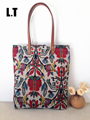 2017 Handmade Women Canvas Handbags Vintage Retro Aztec Tribal Chic Bohemian Hippie Gypsy Boho Shopping Book