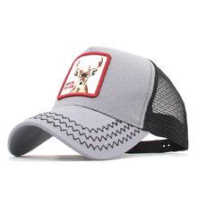 Nuevos animales Pato Donald bordado gorra de béisbol de los hombres las mujeres Snapback Hip Hop gorra verano sombrero de malla gorra de camionero hueso gorra sombrero de papá(China)