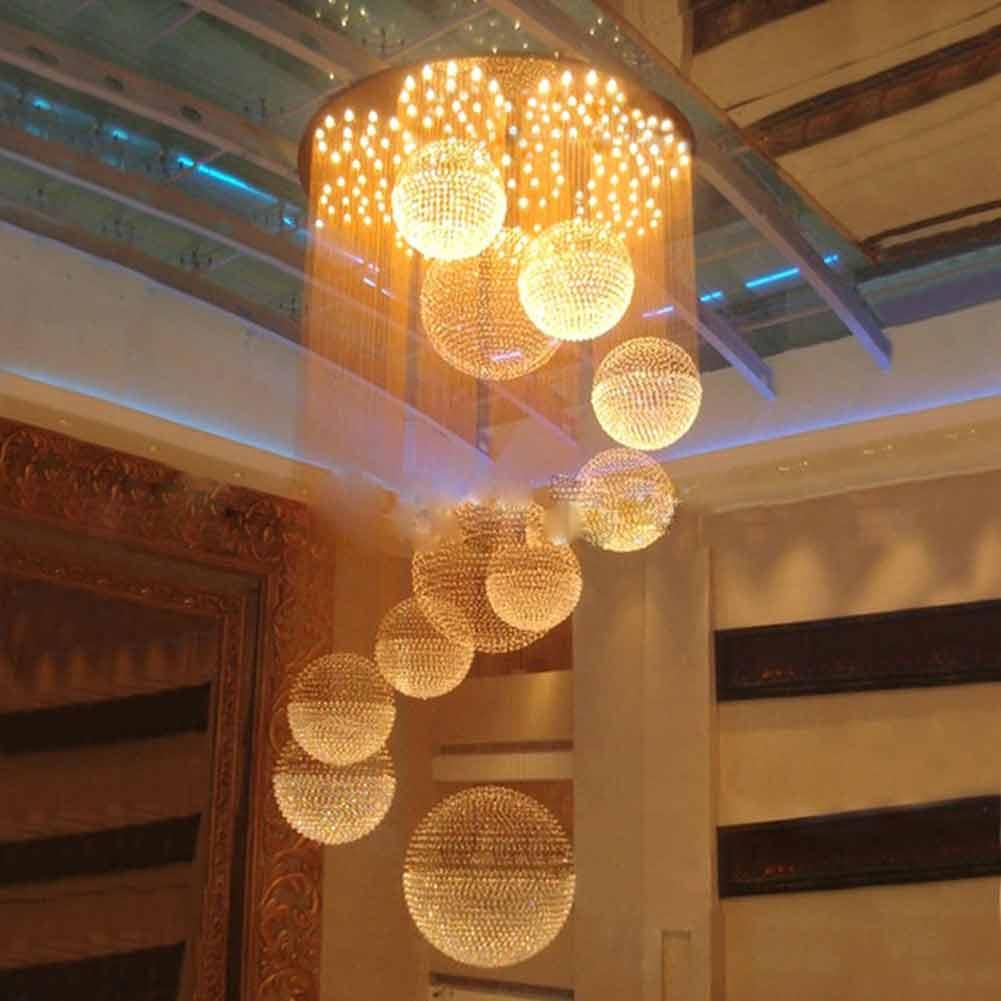 luxury modern chandelier super large k9 crystal ball. Black Bedroom Furniture Sets. Home Design Ideas