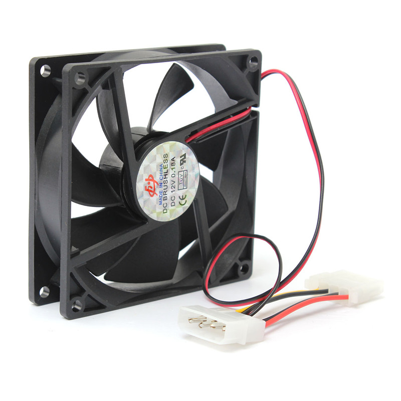 New Arrival 90mm/90x90x25mm Cooler Computer PC CPU Silent Cooling Case Fan Black 12V 4-Pin(China (Mainland))