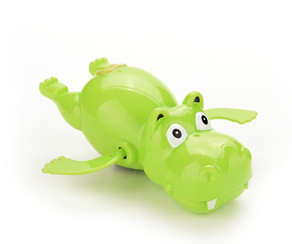 Lovely Child Baby Kid Hippo Swimming Toys Plastic Wind Up River Horse Bath Toys Educational Toys(China (Mainland))