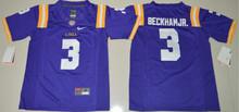 2016 NIKE Youth LSU Tigers Odell Beckham Jr. 3 College Jersey Ice Hockey Jerseys Limited Jersey - Purple Size S,M,L,XL(China)