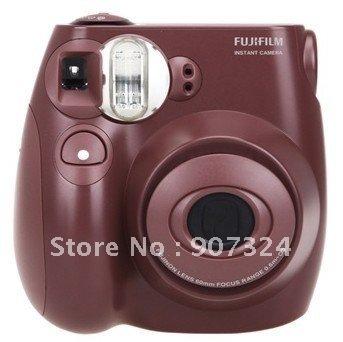 Free Shipping Original Fuji Instax instant mini7s camera(brown)+2pack films