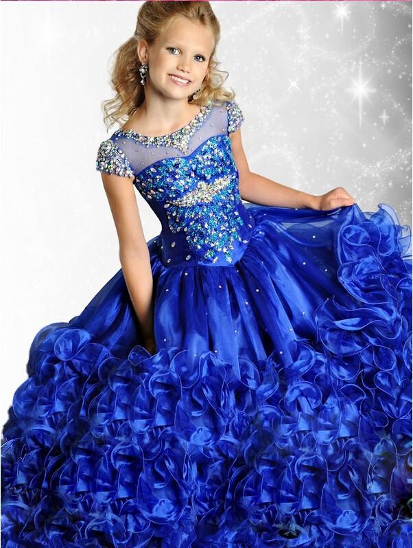 Popular Kids Long Blue Ball Gowns-Buy Cheap Kids Long Blue Ball ...