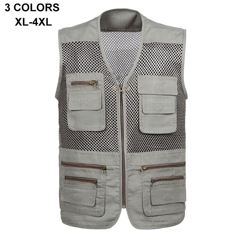 New Arrival Outdoor Multi Pockets Fishing Vest, Breathable Mesh Hiking Reporters Photography Vest,men quick dry fishing vest A43(China (Mainland))