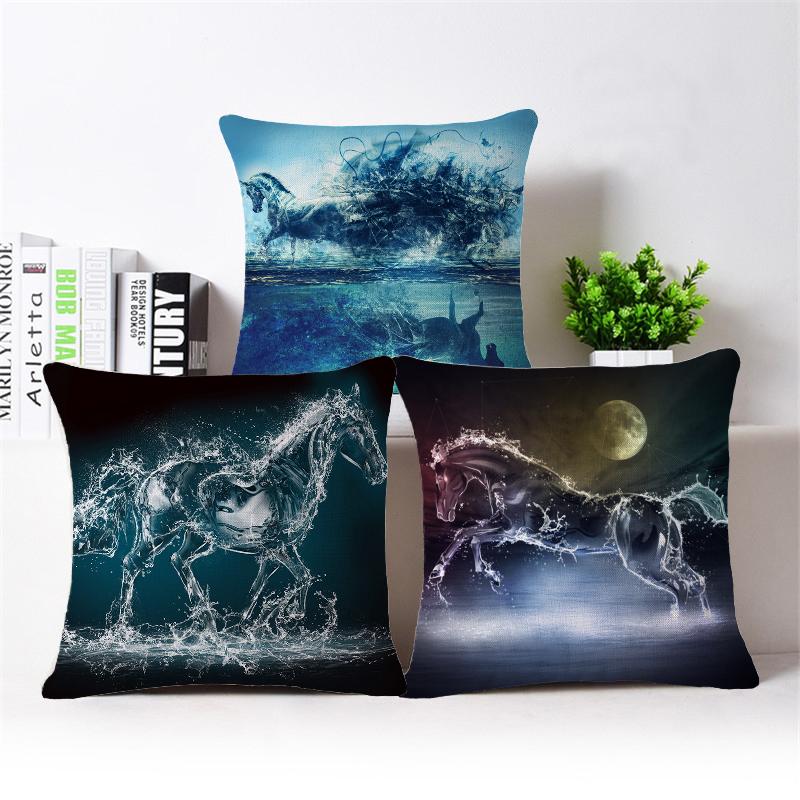 3d horse print cushion covers decorative throw pillow covers ikea sofa throw pillows for sofa. Black Bedroom Furniture Sets. Home Design Ideas