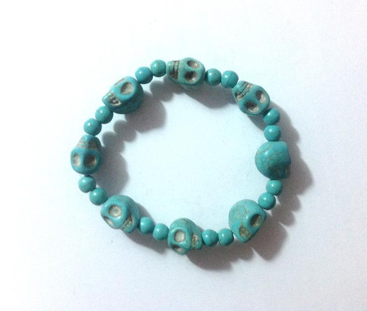 turquoise skull stretch expandable wholesale