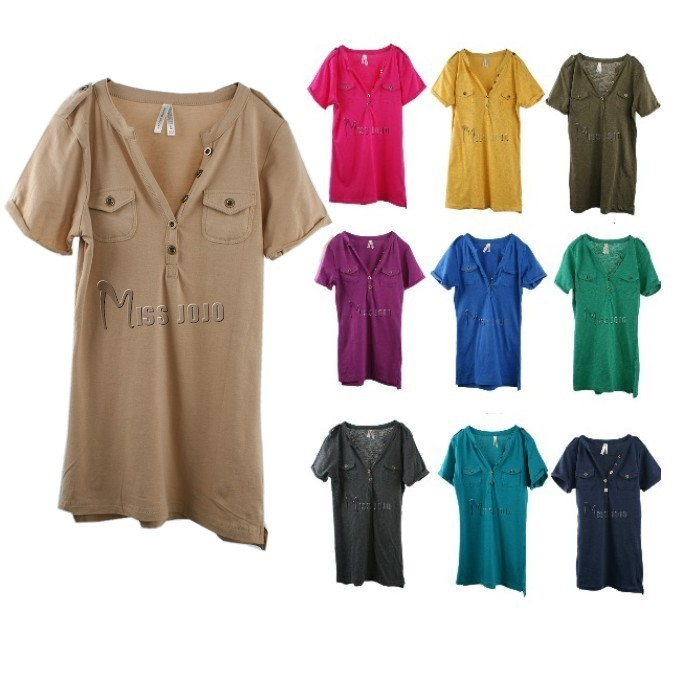 Tight t-shirt female short-sleeve women's fashion candy color top basic shirt - Robber store