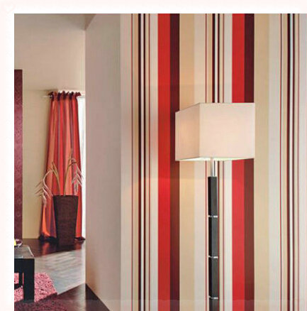3D PVC Stripe Wallpaper Wall Paper Red Black and White Striped Living Room TV Background Wall Decorative Wallcovering 10m papele(China (Mainland))