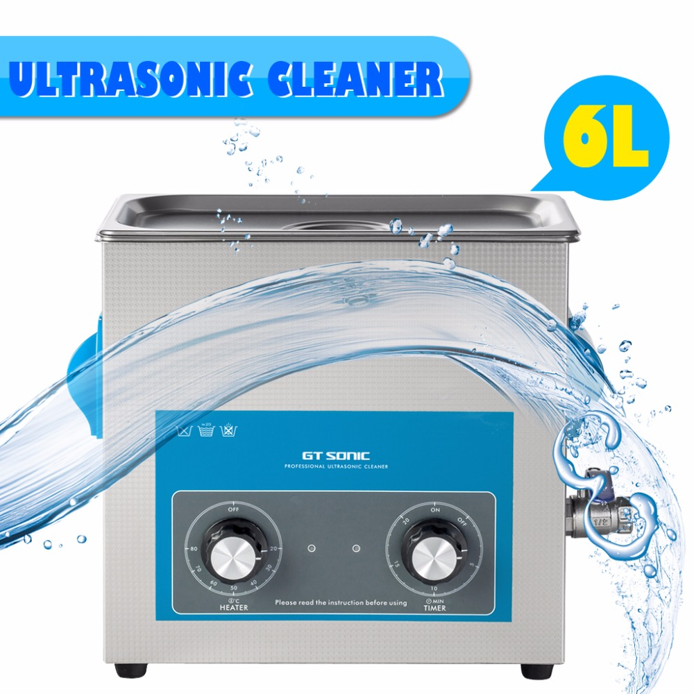 GT Sonic 6L Digital Display Ultrasonic Cleaner Cleaning Appliances Bath Jewelry Watch Glasses Circuit Board limpiador VGT-1860QT(China (Mainland))
