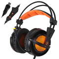 sades A6 USB 7 1 Surround USB gaming headset over ear noise Isolating Breathing LED Lights