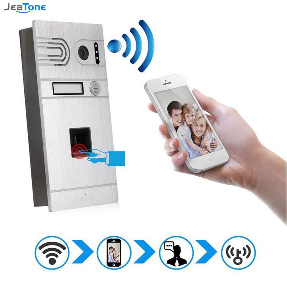 Jeatone Sliver 1.3 MP Wireless WIFI IP Phone Remote Unlocking And Fingerprint Comtrol Unlocking Door Intercom System Doorbell(China (Mainland))