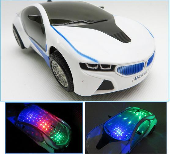 New 3D Flashing Electric Car toy with Lights, and Sound ,goes around and changes directions on contact (Battery Powered)(China (Mainland))