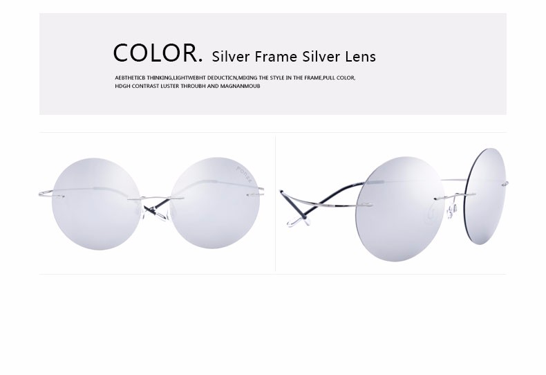 Rimless Glasses No Screws : ???( ? )FONEX No Screw Design Design Round Rimless ...