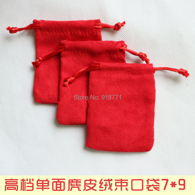 7*9cm Jewelry display Pouches Single suede Velvet Bag Rings necklace Earrings Bracelets Bangle Gif USB MP3MP4 phone Bags Holder(China (Mainland))