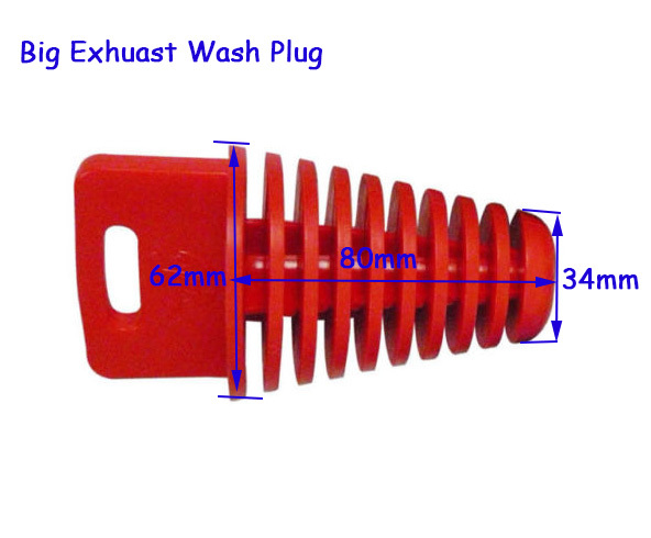 Big Red 34*62mm Pipe Silencer Muffler Exhaust Wash Plug For 4 Stroke Washing Plug For Dirt Pit Bike Motortcycle Supermoto ATV(China (Mainland))
