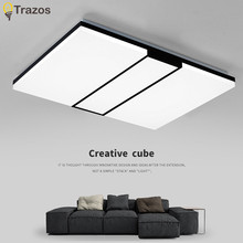 Buy 2017 Modern LED ceiling light square simple decoration fixtures study diningroom balcony bedroom living room ceiling lamp for $88.52 in AliExpress store