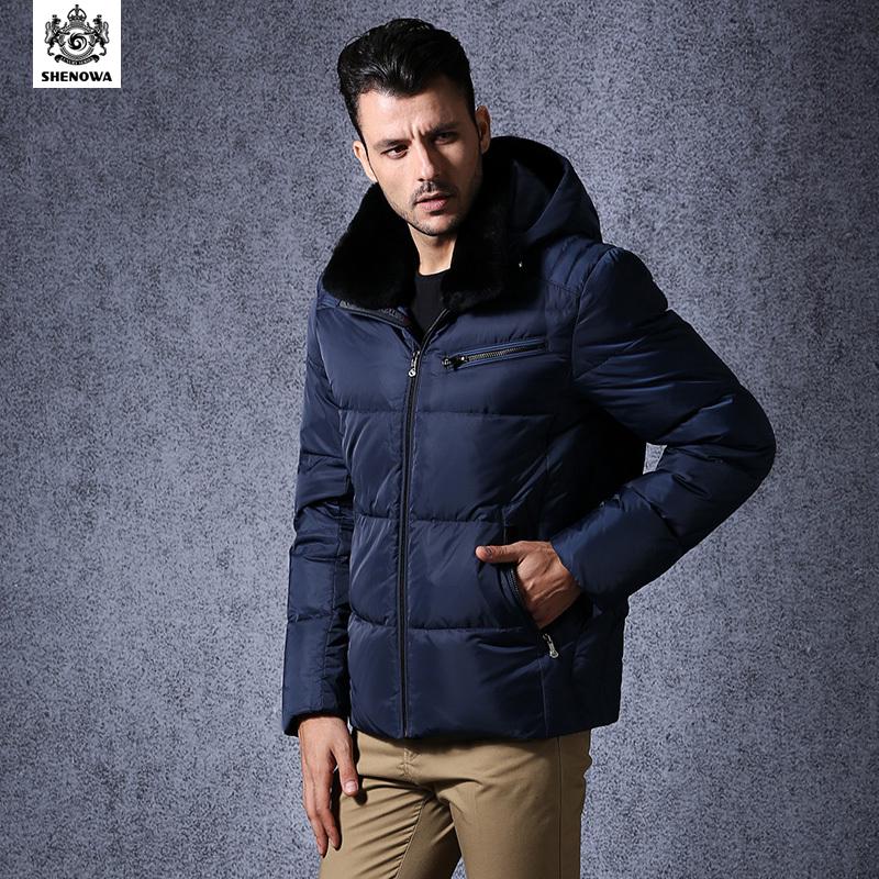 Fashion Shenowa 2015 Men Casual Designer Winter Coat