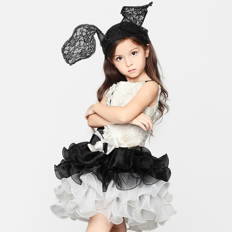 Girls perfermance costumes evening frock dress for 2 3 4 5 for Cute halloween costumes for 12 year olds