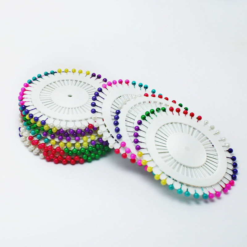 New 40Pcs/Pack Round Pearl Head Weddings Corsage Sewing Colorful Pin Free Shipping TZA006(China (Mainland))