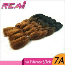 8Packs 24″ 100g Black And Dark Blonde Ombre Two Tone Colored Kanekalon Xpression Jumbo Box Braiding Synthetic Dreadlocks Hair