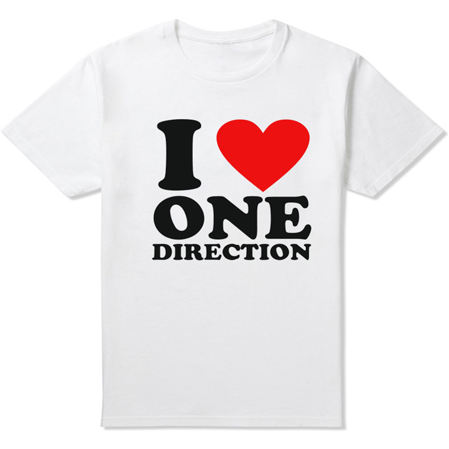 2015 summer famous brand i love one direction t shirt for I love sports t shirt