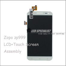 White 5.5″ Inch Original New LCD Display+Digitizer Touch Screen Glass Panel Full Assembly For ZOPO ZP999 Cellphone
