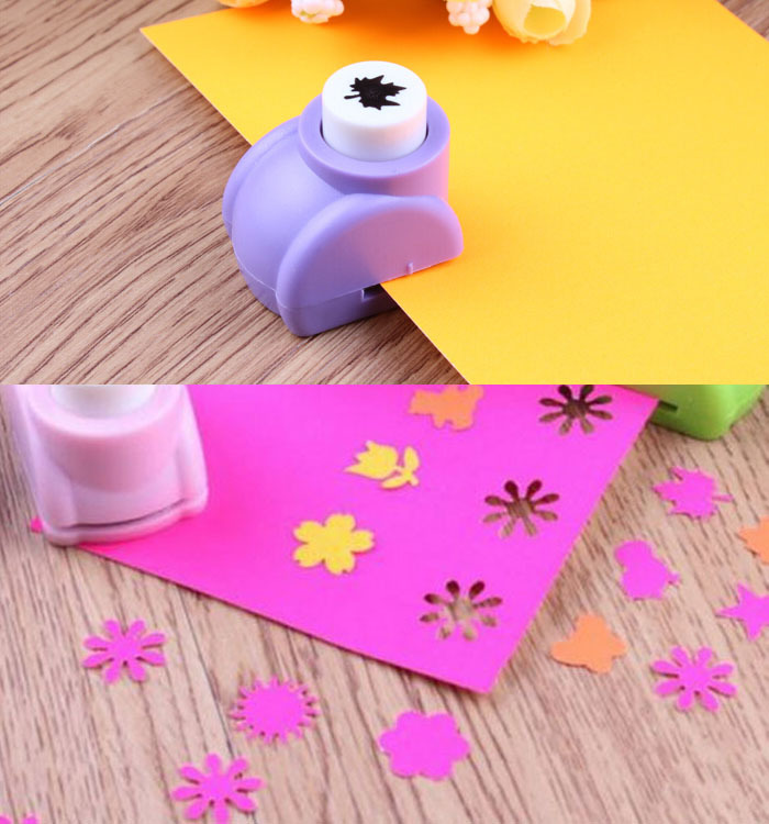 Paper Punch Cutter Kid Child Mini Printing Hand Shaper Scrapbook Tags Cards Craft DIY Tool(China (Mainland))