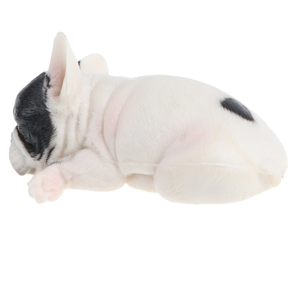 Realistic Sleeping French Bulldog Dog Animal Puppy Pet Figure Wild Forest Farm Ocean Models Educational Toy Home Decor Gift #B