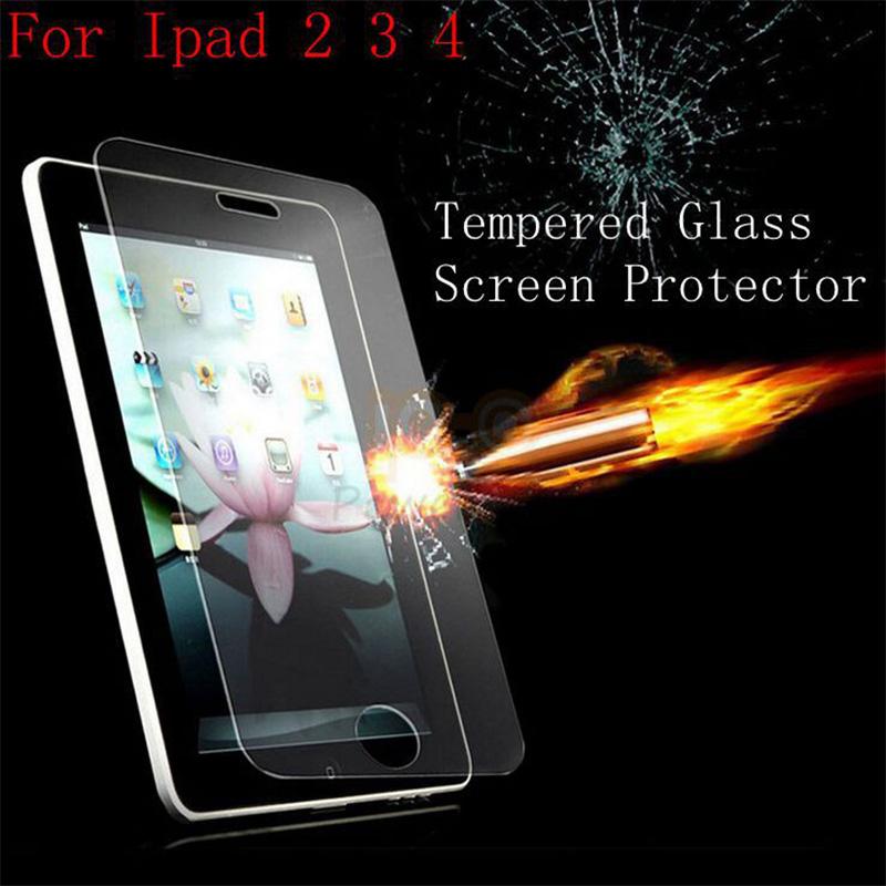 Старший закаленное стекло защитная для IPad 2 3 4 небьющиеся кино / мембрана бесплатная доставка