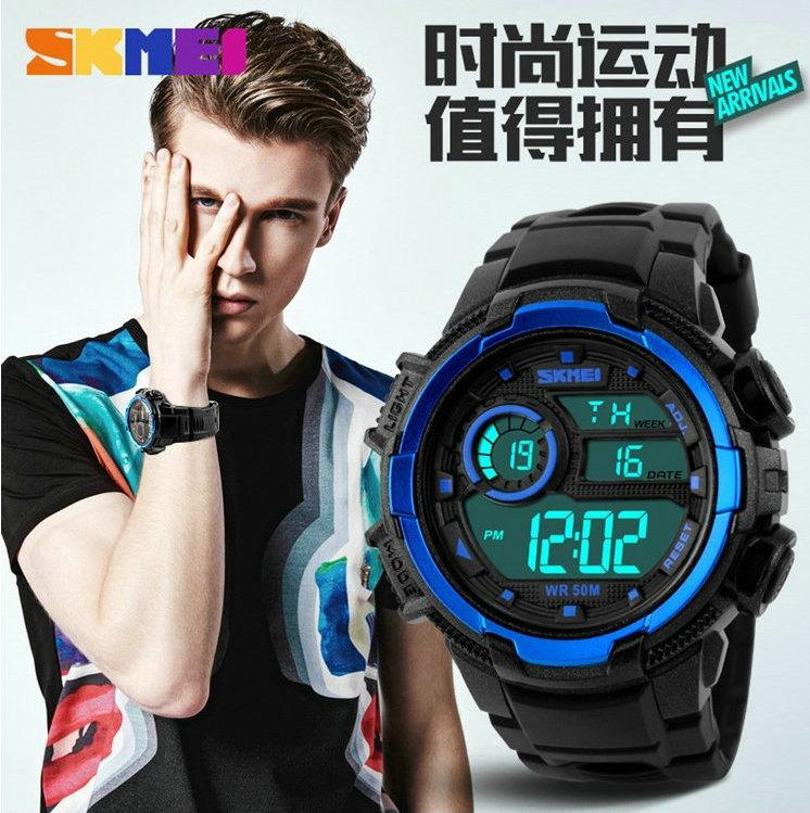 Skmei ladys цифровой будильник ночник женская спортивные часы он женский водонепроницаемый LED женщины электронные часы