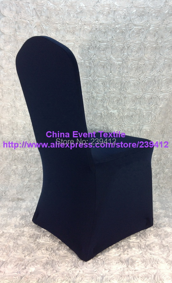 50pcs #23 Navy Blue Arch Front Lycra Wedding Chair Cover,Spandex Chair Cover for Weddings Events &Banquet&Party Decoration(China (Mainland))