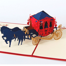 The Horse with Carriage Handmade Creative 3D Pop UP Greeting & Gift Cards