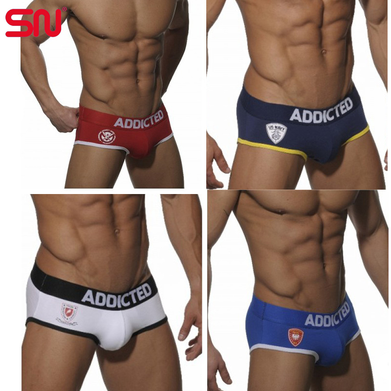 New Design brand underwear men briefs fashion cotton Penis sexy underpants for male Gay male boys