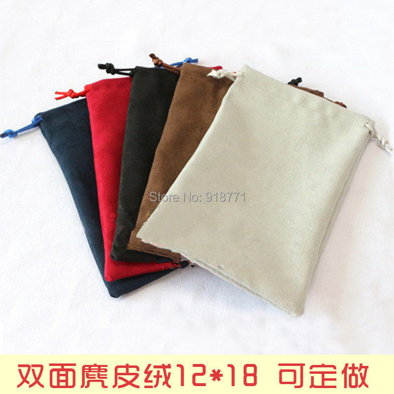 12*18cm Jewelry display Pouches double suede Velvet Bag Rings necklace Earrings Bracelets Bangle Gif USB MP3 4 phone Bags Holder(China (Mainland))