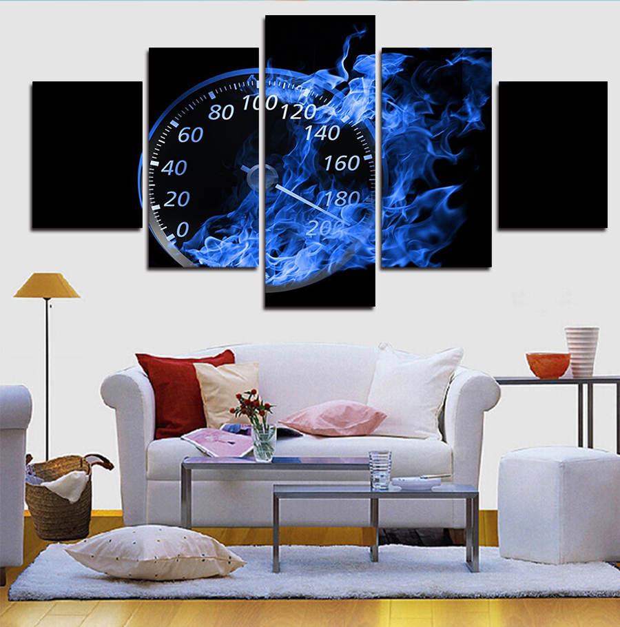 5 Piece Abstract Car Modern Home Wall Decor Canvas Picture Art HD Picture Print wall Painting Set Of 5 Each Canvas Arts Unframe