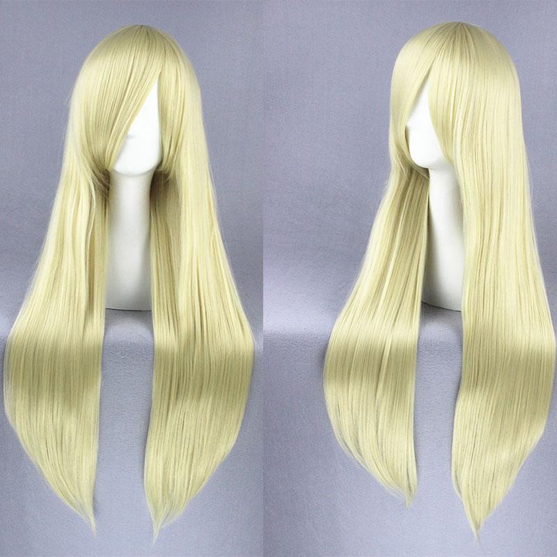 LOVELESS AGATSUMA SOUBI Chobits Eruda Anime Cosplay Wig Beige Long Straight Hair Wigs WQCD+Free Wig Cap<br><br>Aliexpress
